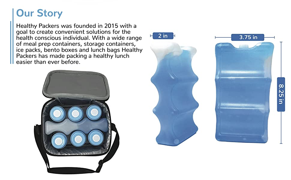 Great for Breastmilk Bottles Storage and Can Coolers 4-Can Long Lasting Ice Pack