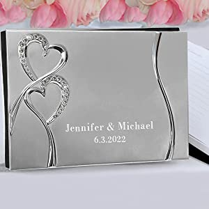 Sparkling Love Personalized Wedding Guest Book