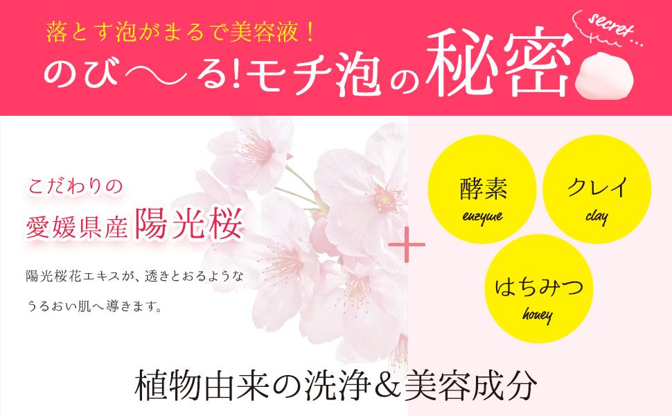 愛媛県産陽光桜+植物由来の洗浄&美容成分配合