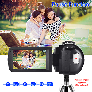 Flashandfocus.com a8fada3b-b1db-4a06-ab35-9ca3ddd3b71c.__CR0,0,300,300_PT0_SX300_V1___ 4K Video Camera Camcorder with Microphone 30FPS 48MP Vlogging Camera with Rotatable 3.0 Touch Screen and Time-Lapse…