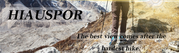 men's hiking pants outdoor lightweight quick dry stretch pant with zip pockets for summer slim fit
