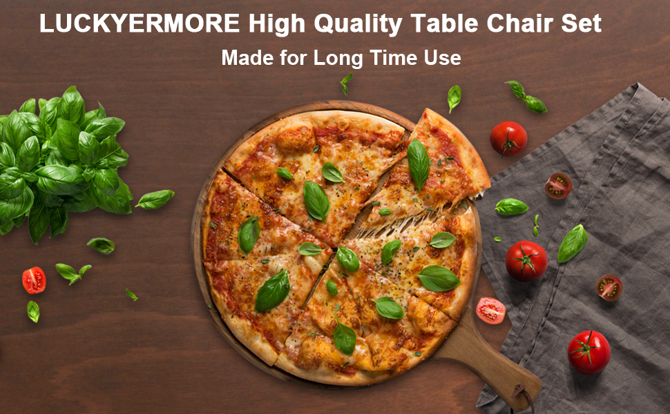 LUCKYERMORE High Quality Table Chair Set ; Made for Long Time Use