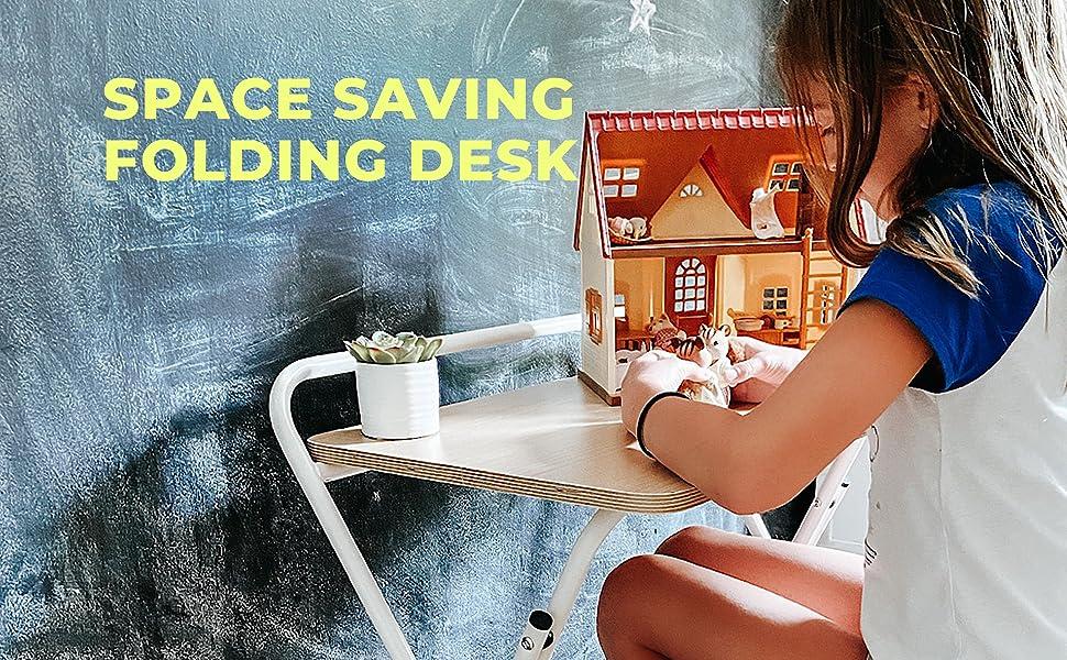 SOFSYS Folding Desk - Space Saving Folding Desk