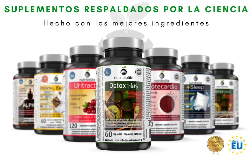 Detox Plus - Complemento alimentício natural con 13 ingredientes para auxiliar en el proceso depurativo natural del cuerpo: Amazon.es: Salud y cuidado personal