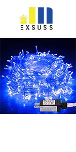 blue string lights