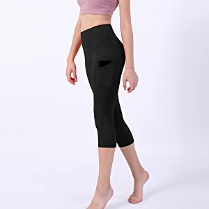 ODODOS Out Pocket High Waist Yoga Pants,Tummy Control,Pocket Workout Yoga Pant