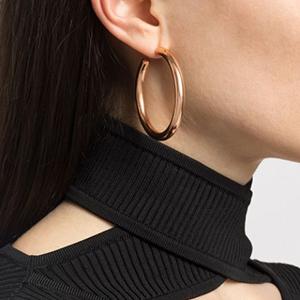rose gold chunky hoop earrings
