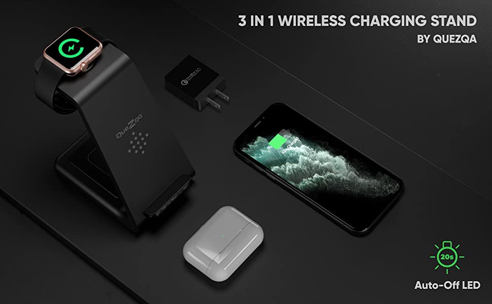 wireless charging stand 3 in 1 charging station for apple products fast wireless charger dock