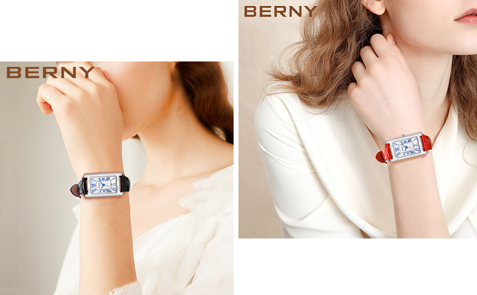 berny black red small face watch for women on sale clearance