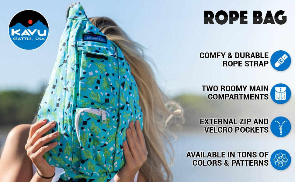 KAVU Rope Bag - Sling Pack for Hiking, Camping, and Commuting