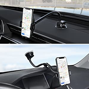dashboard and windshield phone mounting methods