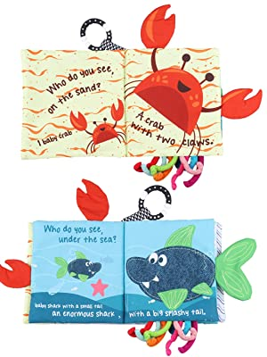 baby shark book baby shark toy soft book soft baby book baby soft book baby cloth book fish crab toy