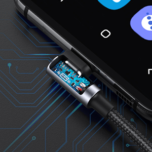 usb c to usb c cable 60w power delivery fast charging 90 degree right angle