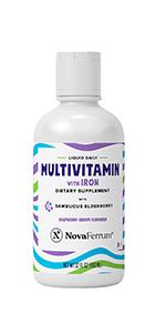 Novaferrum liquid Multivitamin with Iron supplement
