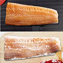 frozen food flat defrosting tray defrost visibly faster temperature taste nutrition deliciousness.