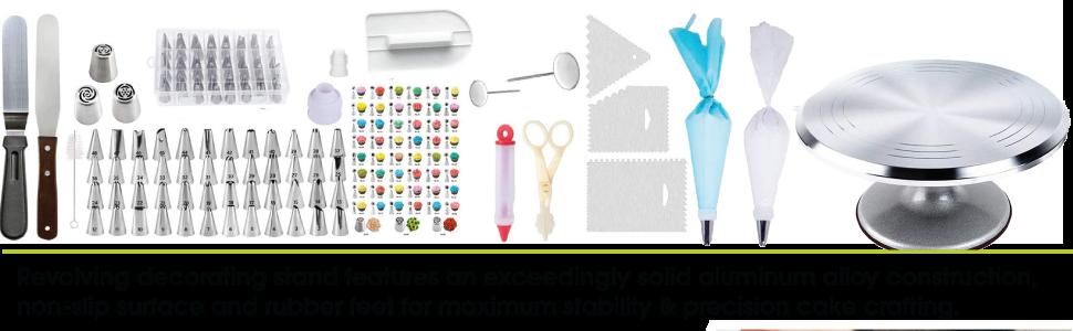 utensilios rectos para colorear uñas hacer hornear niños hacer plumas flores pasteles kits acopladores productos completos