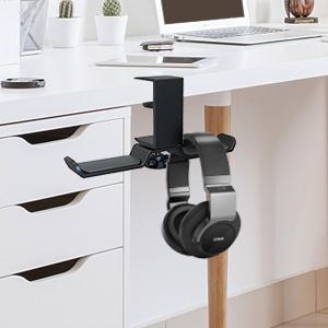 dual headphone under desk mount