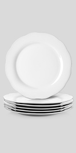 Scalloped Plate White Dinnerware Plates Farmhouse Dinnerware Plate Cottage Dinnerware Dinnerware Dinner Plate