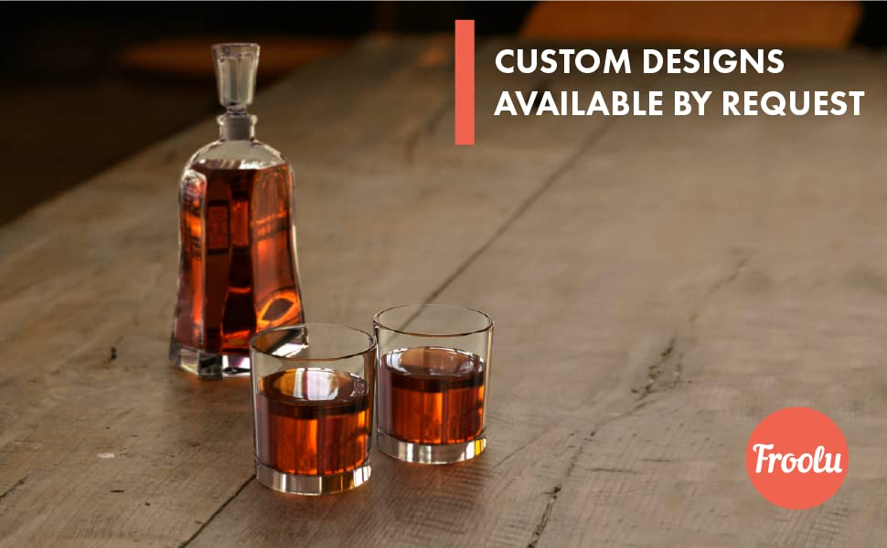 Custom Decanter Whiskey Set by Froolu