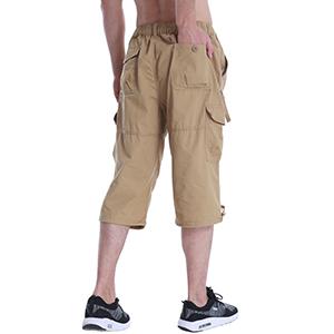 men cargo long shorts