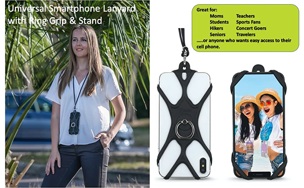 cell phone lanyard phone holder case neck strap instacart healthcare hospital antimicrobial