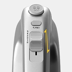hand mixer with storage