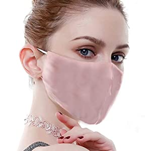 Silk Face Mask for Women Recyclable and Cleanable Keep Warm in Winter,Soft Cloth for The Nobility