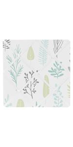 Sweet Jojo Designs Blue and Grey Tropical Leaf Fabric Memory Memo Photo Bulletin Board