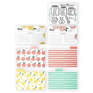 Fun Fruit Card & Divider Designs + A Handy Conversion Chart