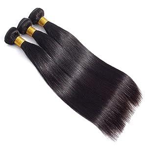 straight hair bundle virgin brazilian human hair weave and weft
