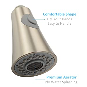 faucet head with proper shape and premium aerator