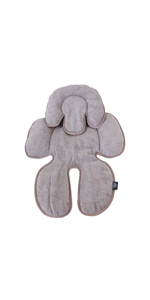 Long-Ci Baby Seat Pad Reversible in Waterproof Liner and Terry Cotton Towelling for Carseats Strollers Infant Swings