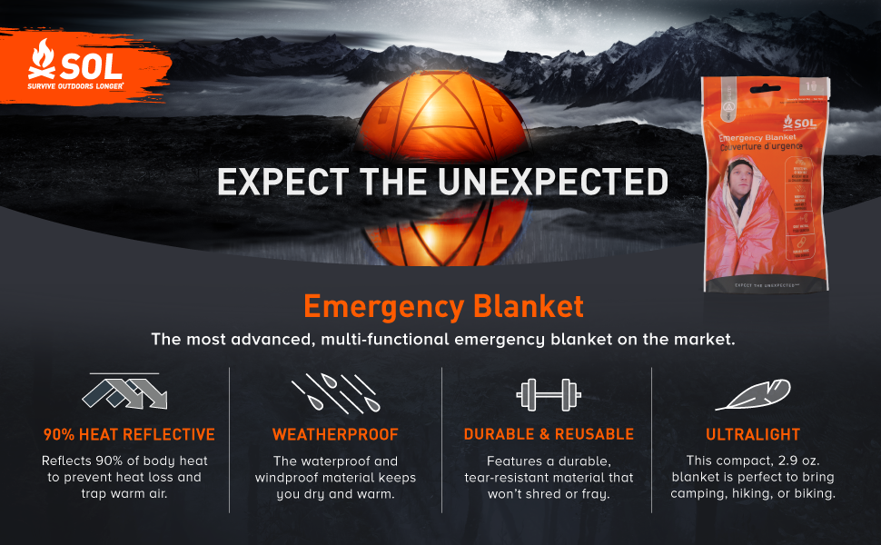 emergency survival camping hiking remote wilderness shelter tent heat warmth trail lightweight rain