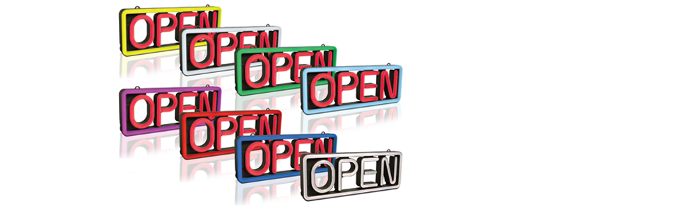 LED Rectangle Open Business Sign MultiColor Pro-Lite
