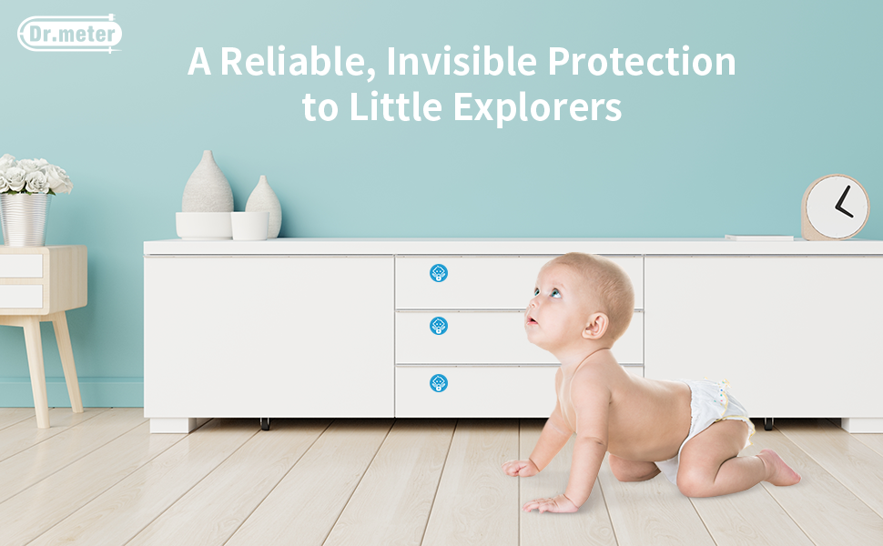 Magnetic Baby Proof Lock for Cabinets, Doors, Drawers