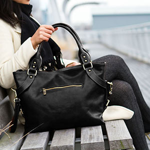 Leather Handbag Floto Taormina