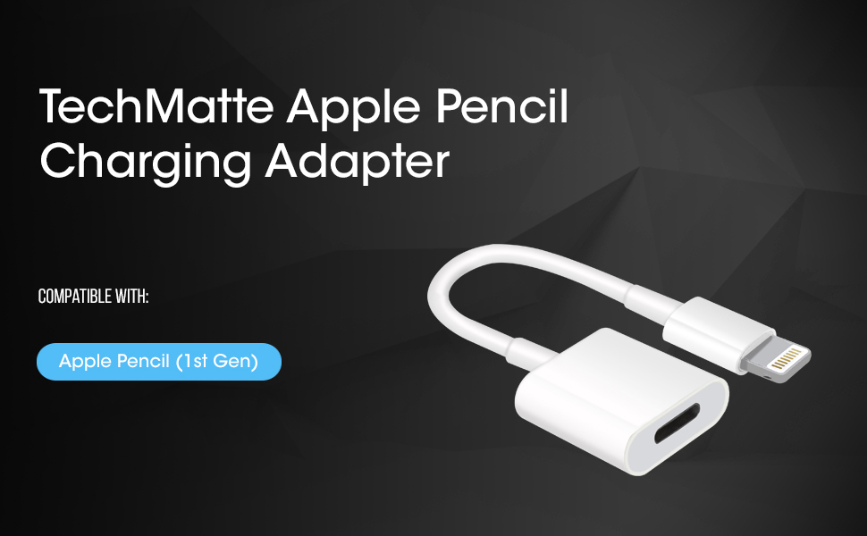 BOLWEO Male to Female Flexible Charging Adapter Cable for Appl e iPad Pro Pencil