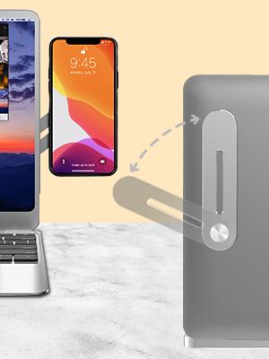 laptop side mount clip, phone holder laptop, phone mount laptop, laptop side mount phone holder,