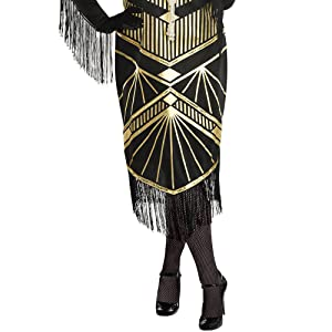 flapper costume women dress tights 1920s gatsby art deco vintage jazz roaring 20s