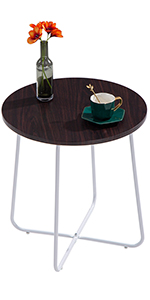 Premium Round Sofa Side Table, Coffee End Table for Livingroom
