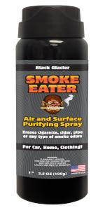 Smoke Eater spray can black glacier odor remover