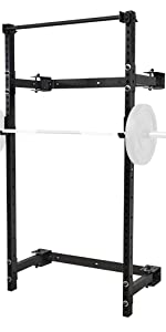 PRx Performance Murphy Rack Fold In Wall Mounted Squat Rack with Pull up bar