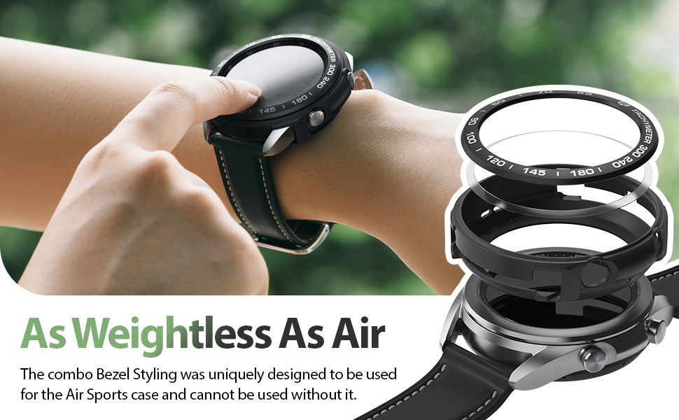 Ringke Air Sports + Bezel Styling Combo Case Designed for Galaxy Watch 3