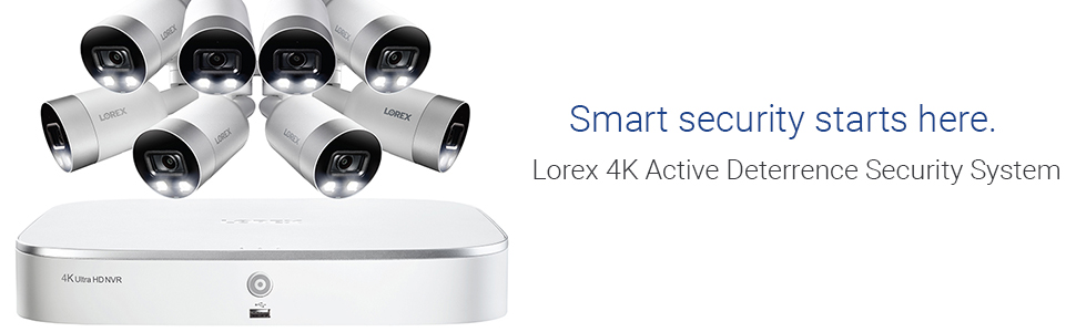 Smart security starts here, 4K Active Deterrence Security System