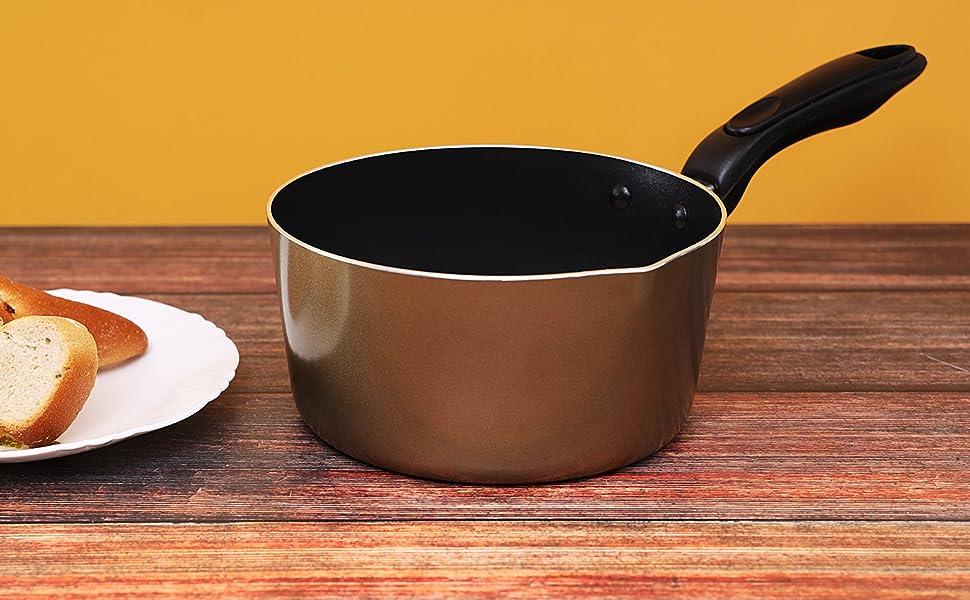 Non-Stick Milk Pan Aluminium Saucepan coffee warmer tea pot butter melting pot water boiling pot