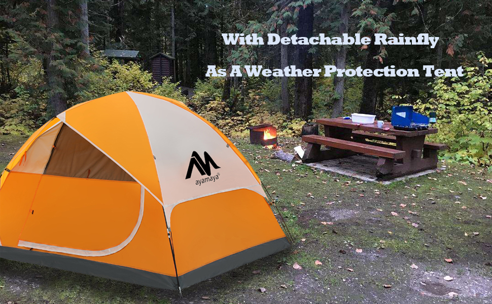 camping dome tent banner