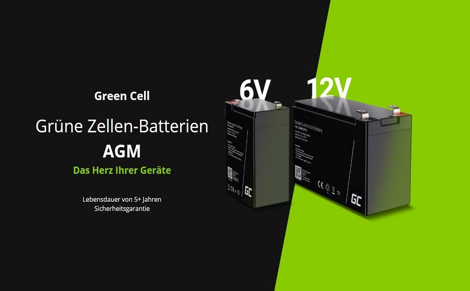 Green Cell Agm 6v 7ah Akku Vrla Blei Batterie Bleiakku Elektronik