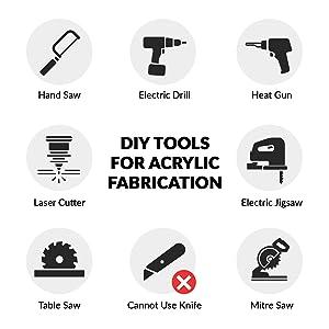 DIY tools acrylic sheet fabriacation