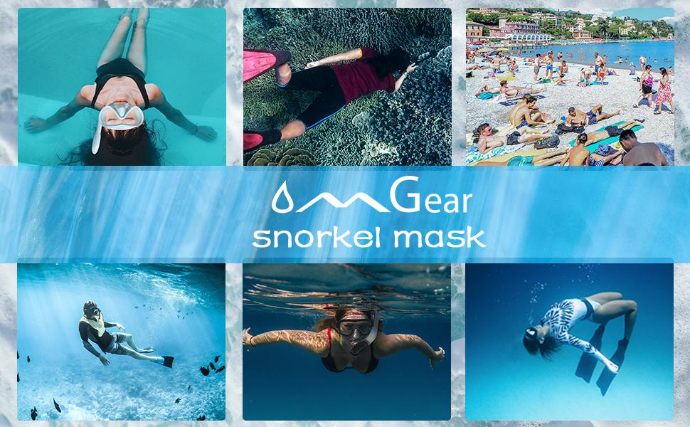 OMGear swim mask snorkeling mask