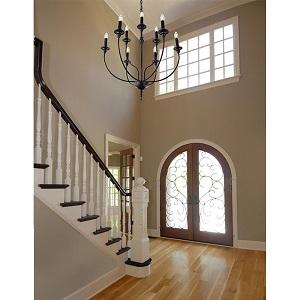 black farmhouse chandelier